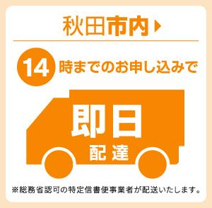秋田市内14時までのお申込みで即日配達